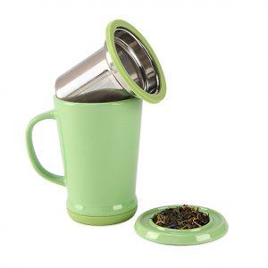 Tea Infuser Mug - Macha Green