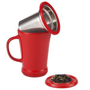 Tea Infuser Mug - Red Currant