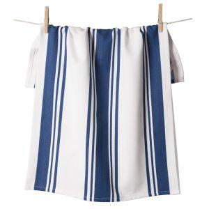 Center Band Kitchen Towels Blue