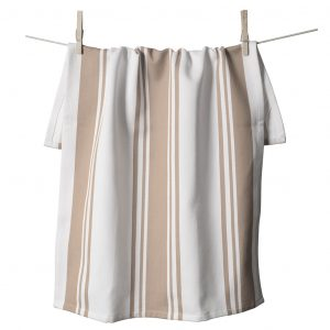 Center Band Kitchen Towels Taupe