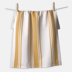 Center Band Kitchen Towels Ochre