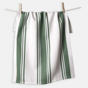 Center Band Kitchen Towels Mineral Green